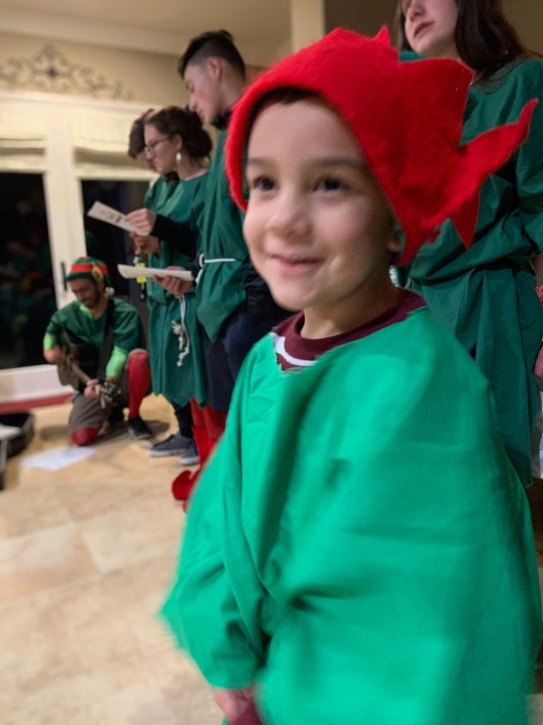 joyful little elf